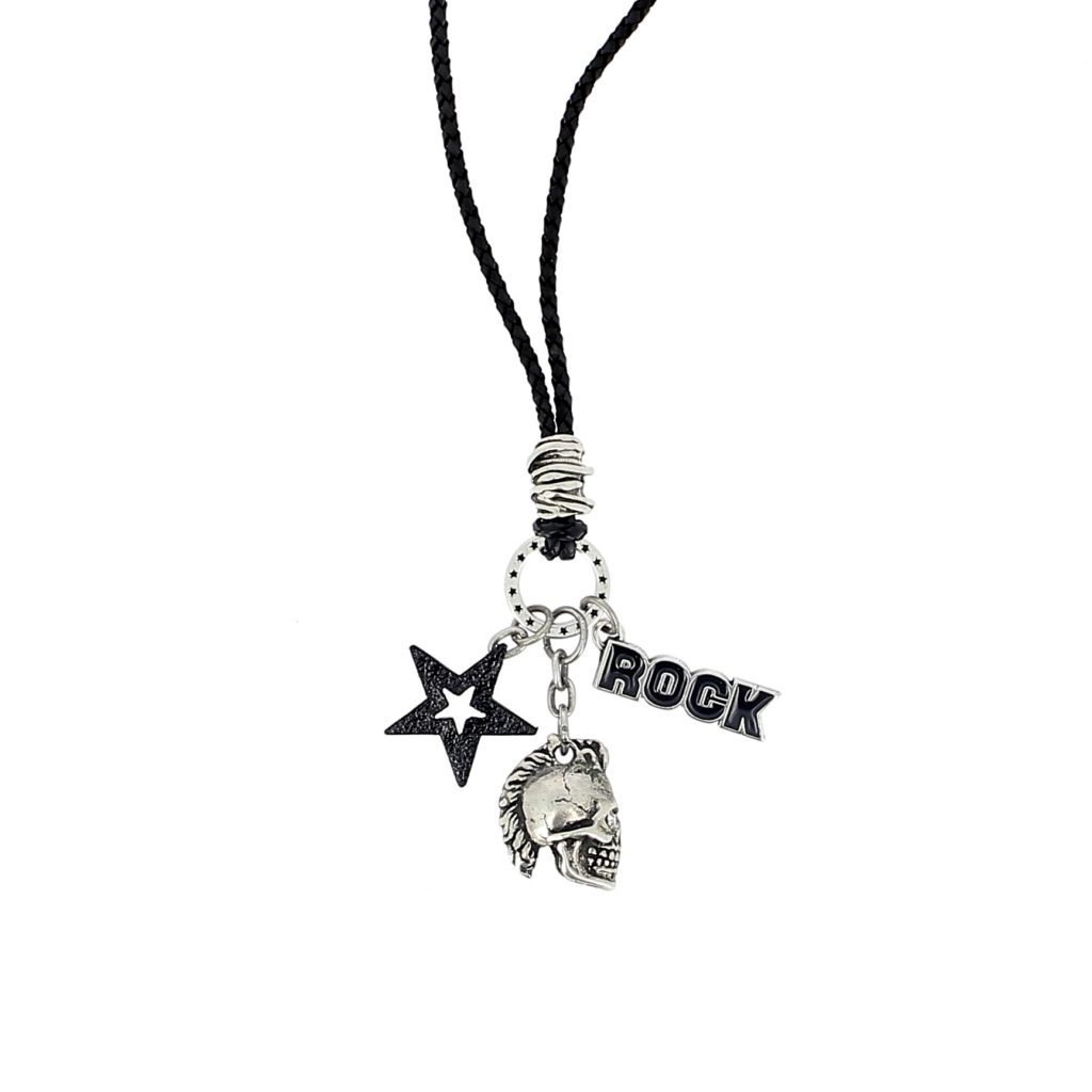 Skull multi pendant charm necklace punk rock skull luis de lis home aloadofball Choice Image