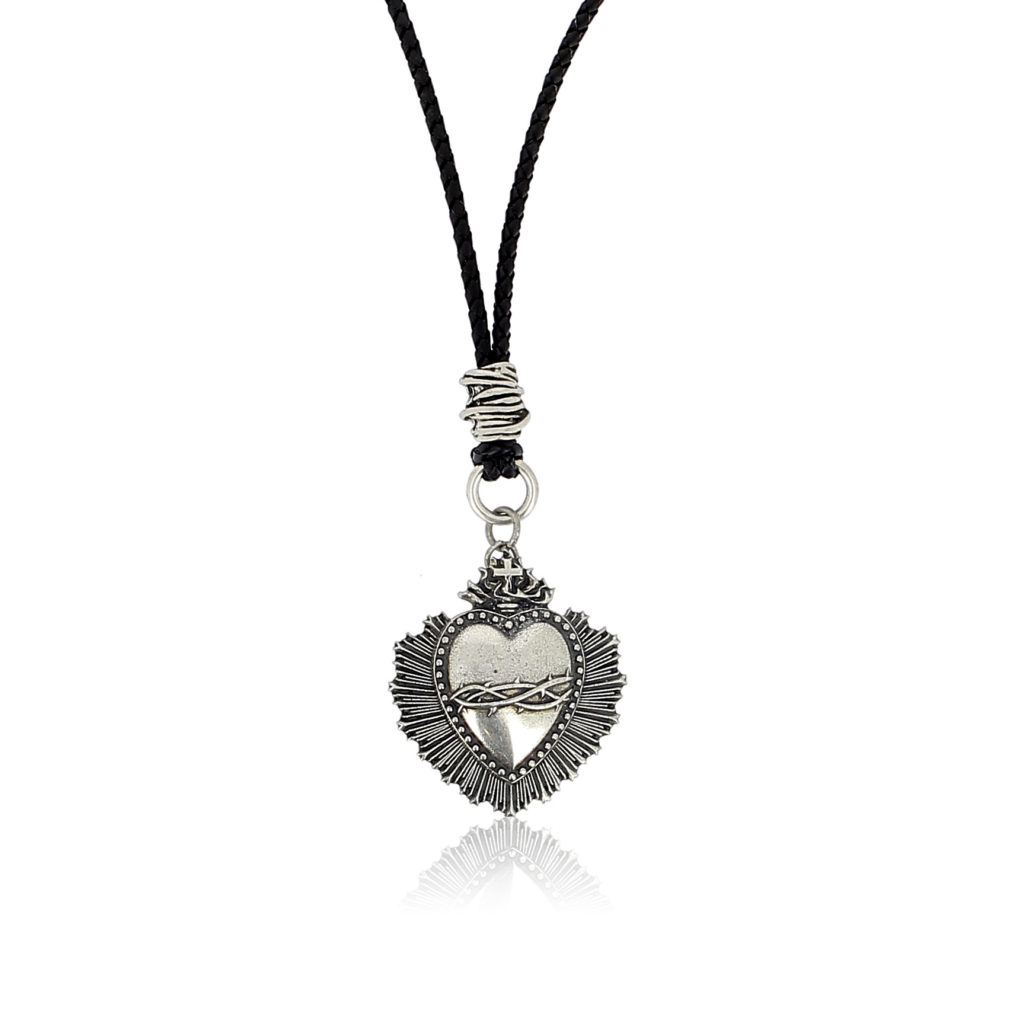 Sacred heart pendant charm necklace luis de lis ibiza joyas home women necklaces pendant necklaces aloadofball Choice Image